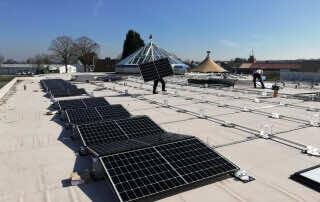 Neue Photovoltaikanlage | Montage | Leuchten Lukassen
