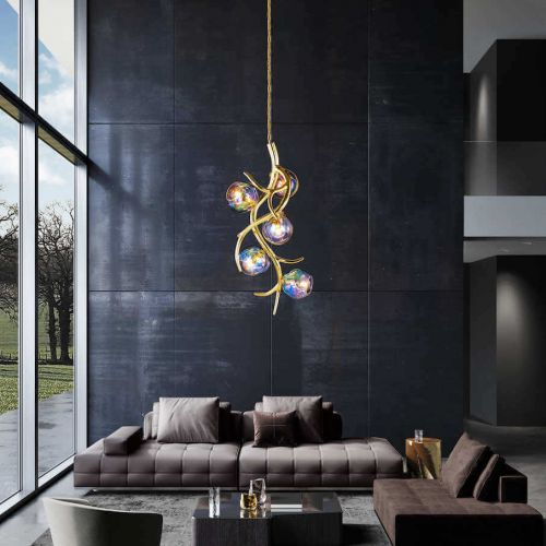 Brand van Egmond | Ersa | Modernes Wohnzimmer mit hohen Fenstern | Leuchten Lukassen Lichtdesign